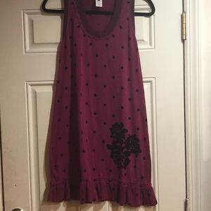 100% cotton Nanette Lepore cute purple dress M